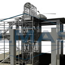 Hydraulic platform for heliport