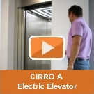 The electric elevator CIRRO A - a solution developed by Elmas